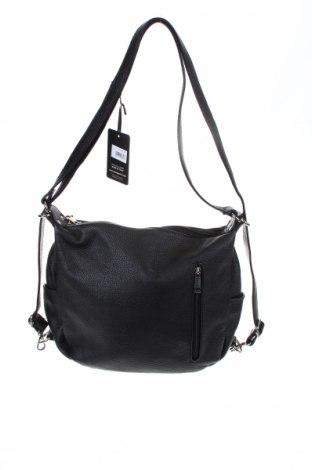 Дамска чанта Mangotti, Цвят Черен, Естествена кожа, Цена 169,47лв.
