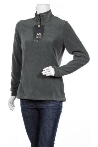 Дамска поларена блуза Human Nature, Размер M, Цвят Зелен, Полиестер, Цена 14,28лв.