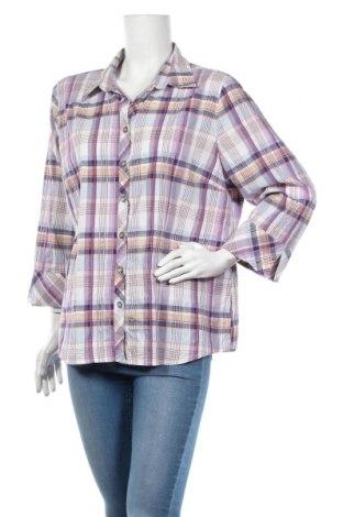 Дамска риза Andrea, Размер XL, Цвят Многоцветен, 62% памук, 37% полиестер, 1% еластан, Цена 4,46лв.