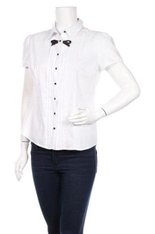 Дамска риза Orsay, Размер M, Цвят Бял, 69% памук, 27% полиамид, 4% еластан, Цена 32,00лв.