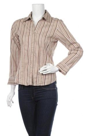 Γυναικείο πουκάμισο Passport, Μέγεθος M, Χρώμα  Μπέζ, 97% βαμβάκι, 3% ελαστάνη, Τιμή 2,39€