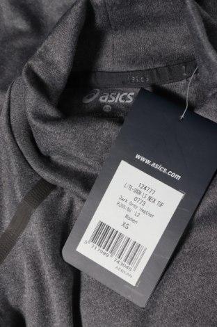 Дамска спортна блуза ASICS, Размер XS, Цвят Сив, Полиестер, Цена 51,75лв.