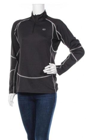 Дамска спортна блуза Damart Sport, Размер L, Цвят Черен, 95% полиестер, 5% еластан, Цена 28,98лв.