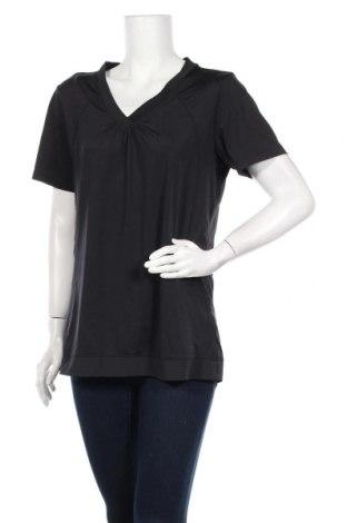 Дамска тениска Active By Tchibo, Размер L, Цвят Черен, 86% полиестер, 14% еластан, Цена 12,60лв.
