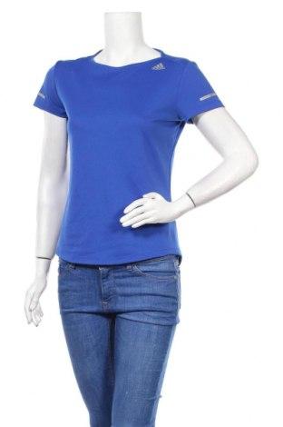 Дамска тениска Adidas, Размер S, Цвят Син, Полиестер, Цена 19,20лв.
