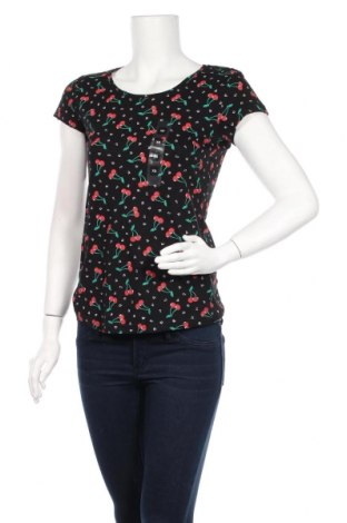 Дамска тениска Colours Of The World, Размер XS, Цвят Черен, Памук, Цена 22,00лв.
