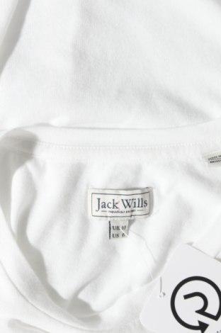 Дамска тениска Jack Wills, Размер M, Цвят Бял, 50% памук, 50% полиестер, Цена 22,62лв.