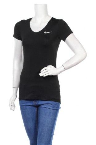 Дамска тениска Nike, Размер S, Цвят Черен, Цена 23,65лв.