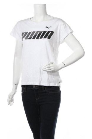 Дамска тениска PUMA, Размер S, Цвят Бял, 60% памук, 40% модал, Цена 32,76лв.