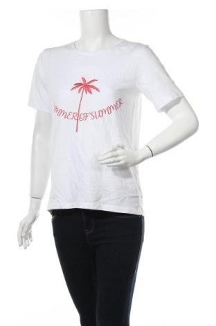 Дамска тениска Vila, Размер M, Цвят Бял, Памук, Цена 16,82лв.