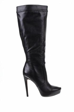 Дамски ботуши BCBG Max Azria, Размер 38, Цвят Черен, Естествена кожа, Цена 275,07лв.