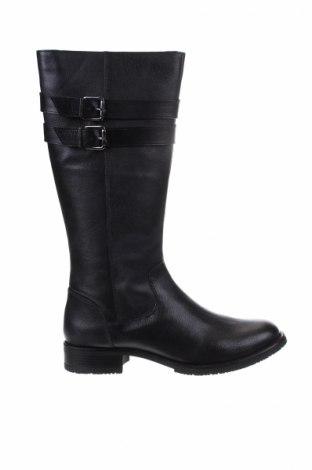 Γυναικείες μπότες Manoukian, Μέγεθος 39, Χρώμα Μαύρο, Γνήσιο δέρμα, Τιμή 84,11€