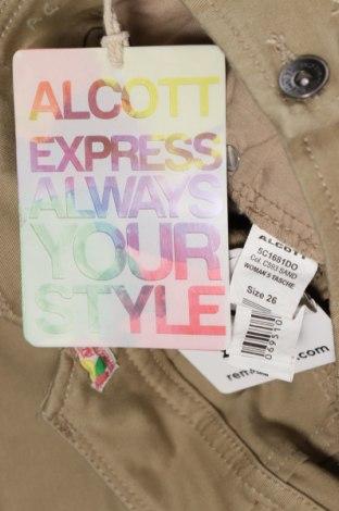 Γυναικείο Τζίν Alcott, Μέγεθος XS, Χρώμα  Μπέζ, 98% βαμβάκι, 2% ελαστάνη, Τιμή 23,97€