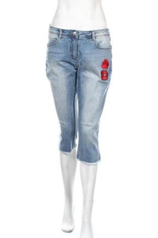 Дамски дънки Aniston, Размер M, Цвят Син, 98% памук, 2% еластан, Цена 7,20лв.