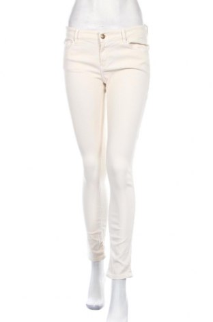 Дамски дънки Massimo Dutti, Размер L, Цвят Екрю, Цена 24,71лв.
