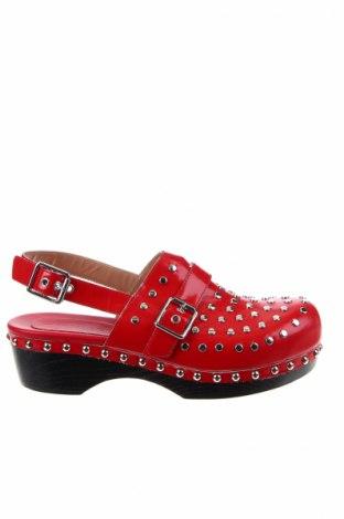 Γυναικεία παπούτσια TWINSET, Μέγεθος 40, Χρώμα Κόκκινο, Γνήσιο δέρμα, Τιμή 70,59€