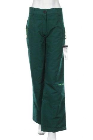 Дамски панталон за зимни спортове Zlener, Размер XXL, Цвят Зелен, Полиамид, Цена 70,95лв.