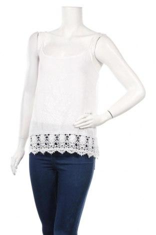 Γυναικείο αμάνικο μπλουζάκι Ariston, Μέγεθος M, Χρώμα Λευκό, Βισκόζη, βαμβάκι, Τιμή 10,52€