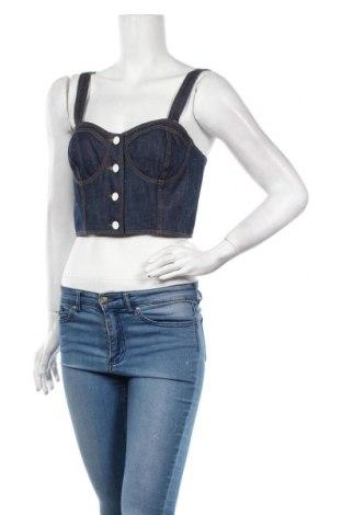Γυναικείο αμάνικο μπλουζάκι Kookai, Μέγεθος M, Χρώμα Μπλέ, Βαμβάκι, Τιμή 6,03€