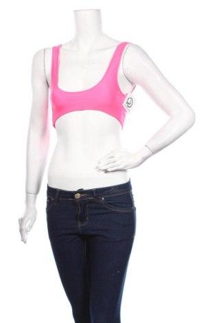 Дамски спортен топ Boohoo, Размер M, Цвят Розов, 85% полиестер, 15% еластан, Цена 11,20лв.