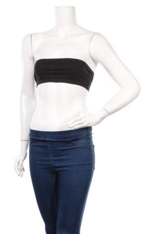 Дамски спортен топ Boohoo, Размер S, Цвят Черен, 95% памук, 5% еластан, Цена 11,76лв.