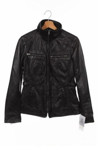 Дамско кожено яке 7 Eleven, Размер S, Цвят Черен, Естествена кожа, Цена 134,25лв.