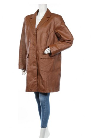 Дамско кожено яке Bpc Bonprix Collection, Размер XXL, Цвят Кафяв, Естествена кожа, Цена 82,95лв.