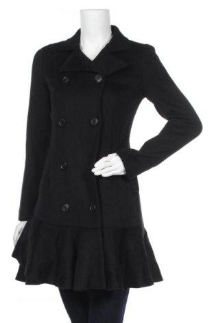 Дамско палто BCBG Max Azria, Размер XS, Цвят Черен, 70% вълна, 30% полиестер, Цена 328,07лв.