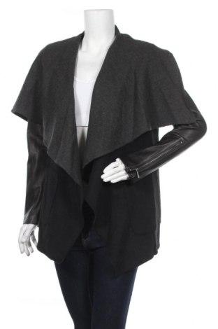 Дамско палто BCBG Max Azria, Размер S, Цвят Черен, Вълна, полиестер, естествена кожа, Цена 328,07лв.