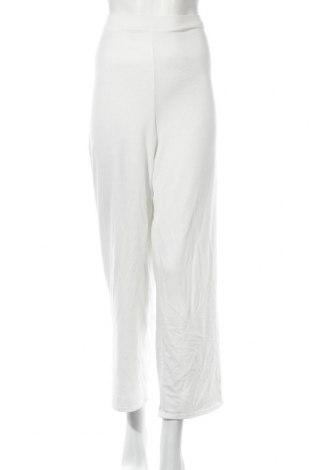 Дамско спортно долнище Boohoo, Размер L, Цвят Бял, 95% полиестер, 5% еластан, Цена 27,00лв.
