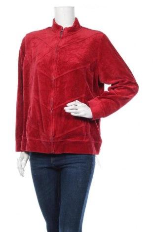 Дамско спортно горнище Relaxed, Размер XL, Цвят Червен, 74% памук, 26% полиестер, Цена 7,56лв.