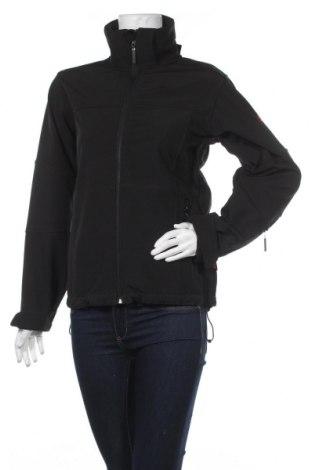 Дамско спортно яке, Размер S, Цвят Черен, 93% полиестер, 7% еластан, Цена 8,93лв.