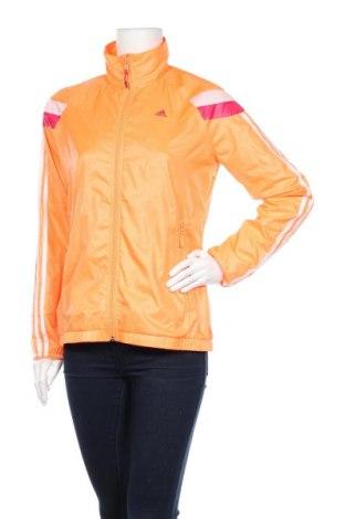 Дамско спортно горнище Adidas, Размер M, Цвят Оранжев, Полиестер, Цена 28,74лв.