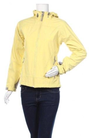 Дамско спортно яке Free Country, Размер S, Цвят Жълт, 93% полиестер, 7% еластан, Цена 13,39лв.