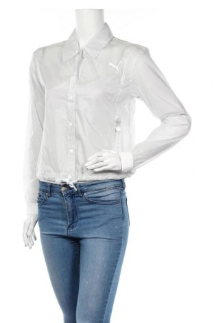 Дамско спортно яке Selena Gomez x PUMA, Размер XS, Цвят Сив, Полиамид, Цена 52,92лв.