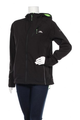 Дамско спортно яке Trespass, Размер M, Цвят Черен, 94% полиестер, 6% еластан, Цена 39,10лв.
