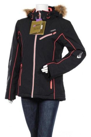 Дамско яке за зимни спортове Nirvana, Размер L, Цвят Черен, 96% полиестер, 4% еластан, Цена 103,95лв.