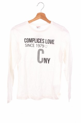 Детска блуза Complices, Размер 13-14y/ 164-168 см, Цвят Бял, Памук, Цена 9,52лв.