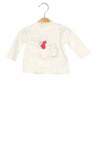 Детска блуза La Compagnie des Petits, Размер 2-3m/ 56-62 см, Цвят Екрю, 100% памук, Цена 10,64лв.