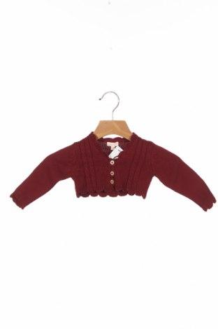Детска жилетка Gocco, Размер 3-6m/ 62-68 см, Цвят Червен, 60% памук, 40% акрил, Цена 26,95лв.