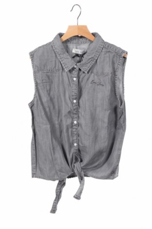 Детска риза Cars Jeans, Размер 15-18y/ 170-176 см, Цвят Сив, Тенсел, Цена 3,36лв.