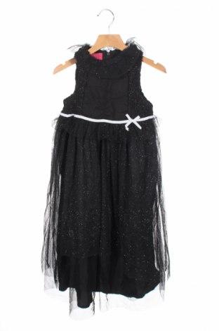 Детска рокля La Compagnie des Petits, Размер 5-6y/ 116-122 см, Цвят Черен, Полиестер, памук, Цена 19,32лв.