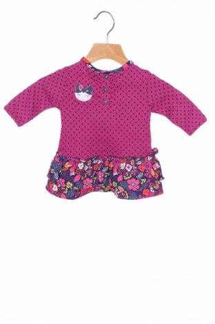 Детска рокля La Compagnie des Petits, Размер 2-3m/ 56-62 см, Цвят Лилав, Памук, Цена 12,88лв.