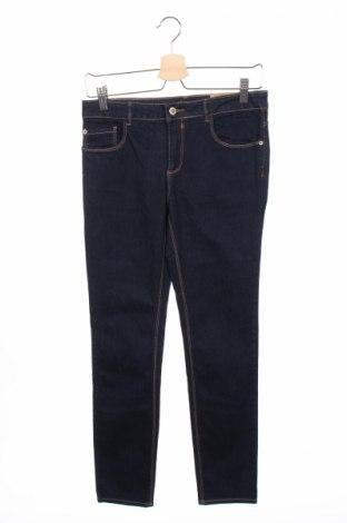 Детски дънки Zara Kids, Размер 13-14y/ 164-168 см, Цвят Син, 95% памук, 3% полиестер, 2% еластан, Цена 37,05лв.
