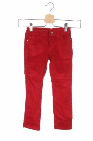 Детски джинси Zara Kids, Размер 2-3y/ 98-104 см, Цвят Червен, 98% памук, 2% еластан, Цена 19,66лв.
