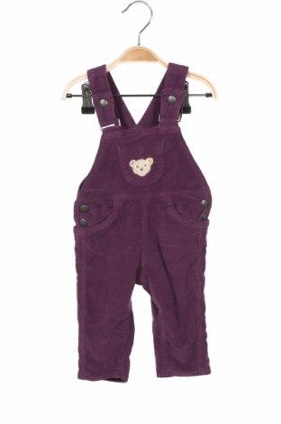 Детски гащеризон Steiff, Размер 2-3m/ 56-62 см, Цвят Лилав, Цена 33,18лв.