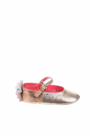 Детски обувки Billieblush, Размер 22, Цвят Златист, Естествена кожа, Цена 28,98лв.