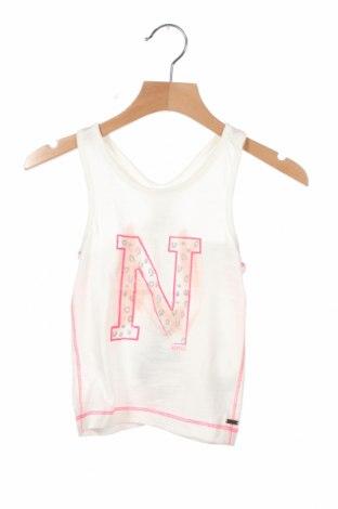 Μπλουζάκι αμάνικο παιδικό Noppies, Μέγεθος 18-24m/ 86-98 εκ., Χρώμα Λευκό, Βαμβάκι, Τιμή 9,64€