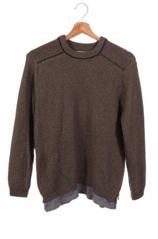 Детски пуловер Zara Kids, Размер 11-12y/ 152-158 см, Цвят Зелен, 67% полиестер, 33% памук, Цена 6,04лв.