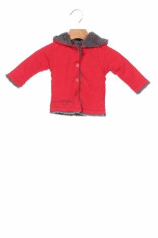 Детско яке La Compagnie des Petits, Размер 3-6m/ 62-68 см, Цвят Червен, Памук, Цена 47,40лв.